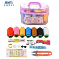 班哲尼 针线盒套装 旅游用品多用途旅行便携缝纫缝补工具盒收纳包 颜色随机