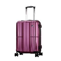 爱华仕(OIWAS)万向轮学生行李箱男 德国拜耳PC自营旅行密码箱 登机箱6176 商务拉杆箱  20英寸紫色