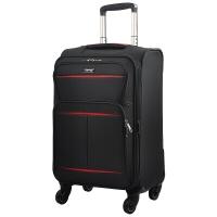 汉客(HANKE)万向轮拉杆箱行李箱男女商务皮箱旅行箱子密码箱包 黑配红28英寸
