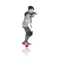 菲乐骑 酷炫风火轮 粉色,street roller
