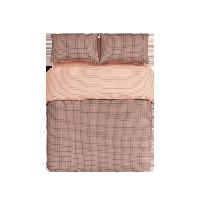 日式全棉格纹四件套 新款1.5m床:适用2mx2.3m被芯*磨毛橘色格纹(床单款)