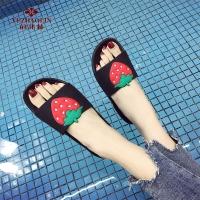 俞兆林 YUZHAOLIN 情侣居家男女室内软厚底浴室洗澡防滑凉拖鞋6301 草莓 37-38