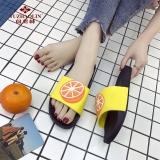 俞兆林 YUZHAOLIN 情侣居家男女室内软厚底浴室洗澡防滑凉拖鞋6301 橙子 37-38