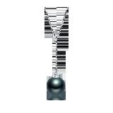 大溪地黑珍珠项链(多款可选)Y字调节款(18K金-银色)*8-9mm