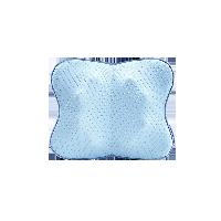 蝴蝶3D曲面按摩靠枕雾霾蓝