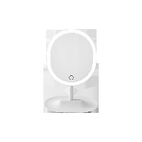 指觸LED子母化妝鏡珍珠白