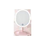 指觸LED子母化妝鏡櫻花粉
