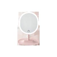 指触LED子母化妆镜樱花粉