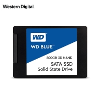 西部数据(WD)500GB SSD固态硬盘 SATA3.0接口 Blue系列-3D进阶高速读写版|五年质保