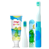 舒客 舒克宝贝儿童声波电动牙刷牙膏套装 (男孩款)2-7岁宝宝(电动牙刷*1+液体牙膏*1+刷头*2)