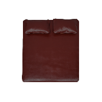 贵族这样纳凉,奢华头层牛皮席 三件套苋红色*150*200cm