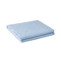 可水洗不悶汗,自然棉麻透氣夏涼被200*230cm*淺水藍