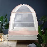 防蚊更安全舒适,加密简约蚊帐 升级款淡蓝(方顶款)*1.8m