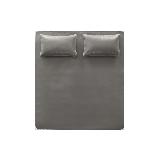 貴族這樣納涼,奢華頭層牛皮席 三件套橄欖棕*180*200cm