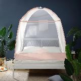防蚊更安全舒适,加密简约蚊帐 升级款淡蓝(蒙古包款)*1.8m