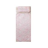 絎縫可水洗,嬰童冰絲涼席&枕頭二件套粉色-奇幻小海馬