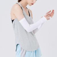 强势阻挡紫外线,男女防晒美白凉感袖套白色*2(粘合指口)
