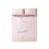 涼而不冰,兒童透氣冰絲涼席3件套150x200cm(適合1.5m床)*粉色-夢幻美人魚
