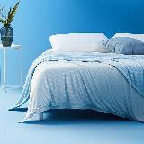 抚慰贴肤的清凉,持久冷感双面毛巾毯蓝色 单人150*200cm