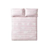 柔软抑菌,竹语天丝软凉席三件套粉色