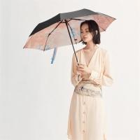 太阳伞遮阳伞蕉下晓风绘梦三折小黑伞绘梦防晒