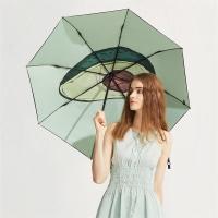 太阳伞遮阳伞蕉下果趣鳄梨三折小黑伞鳄梨防晒