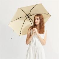 太阳伞遮阳伞蕉下纸意玉子黄五折伞玉子黄防晒