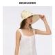 蕉下倍护荞麦色防晒渔夫帽,荞麦色,太阳帽,遮阳帽,帽子