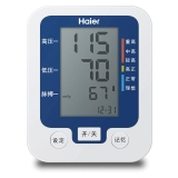 海尔全自动臂式电子血压计,BF1102 白色+蓝色