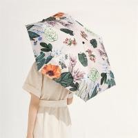 太阳伞遮阳伞蕉下口袋碎花满葵五折伞满葵防晒