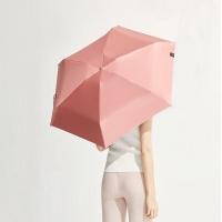太阳伞遮阳伞蕉下胶囊丝影缎带粉五折伞,缎带粉,防晒