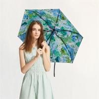 太阳伞遮阳伞蕉下口袋碎花夏沫五折伞夏沫防晒