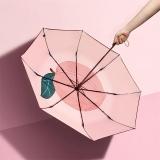 太阳伞遮阳伞蕉下果趣桃子三折小黑伞桃子防晒