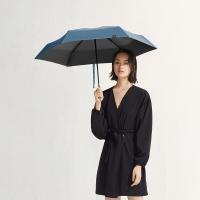 太阳伞遮阳伞蕉下胶囊丝影真丝蓝五折伞,真丝蓝,防晒