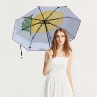 太阳伞遮阳伞蕉下果趣柠檬三折小黑伞柠檬防晒