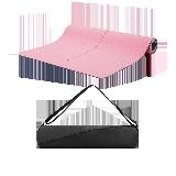瑜伽用品一套搞定,健身瑜伽套装粉色+收纳包
