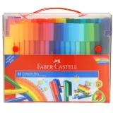 德國輝柏嘉(Faber-castell)水彩筆80色套裝可拼切積木兒童水彩填色涂鴉筆155068