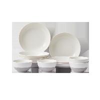 防滑耐磕碰 磨砂陶瓷餐具10件套10件套(饭碗*4+面碗*2+餐盘*4)