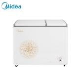 美的(Midea)200升 双温双箱冷柜 左冷冻右冷藏 家用商用冰柜 卧式冰箱  (妙趣金) BCD-200DKM(E)