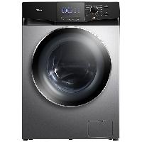 TCL 10公斤变频全自动洗烘一体滚筒洗衣机 全面屏触控 高温除菌除螨 羽绒服洗 (太空灰)100T6-HB