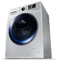 三星(SAMSUNG)8公斤超薄滚筒洗衣机全自动 安心添 泡泡净洗 WW80K5210VS/SC(XQG80-80K5210VS)银