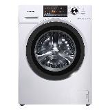 松下(Panasonic)滚筒洗衣机全自动10公斤 95度除菌洗 变频三维立体洗 超薄机身 XQG100-EJDCP白色
