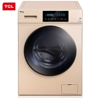 TCL 12公斤 变频全自动滚筒洗衣机 超大触屏滚筒洗衣机 95°高温洗 不伤衣水晶结构内筒 羽绒服洗 XQG120-U5