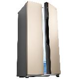 松下(Panasonic)570升对开门冰箱双开门 磨砂金变频无霜风冷 双循环制冷系统 银离子抗菌NR-EW57SD1-N