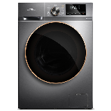 TCL 10公斤直驱全自动变频滚筒洗衣机 整机保修三年 呵护母婴高温除菌除螨(星曜灰)G100F12-D
