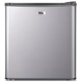 TCL 48升冷藏家用小冰箱 节能静音  小型迷你电冰箱   BC-48H(拉丝银)