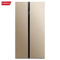 康佳(KONKA)601升 薄壁对开门冰箱 风冷无霜 LED电脑温控 双开门冰箱 金色面板 BCD-601WEGX5S