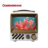 长虹 CC潮TV CC-W1 7英寸新潮搭 免遥控语音 AIoT物联 超长待机 人工智能液晶小电视(白色)