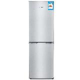创维(Skyworth)160升双门冰箱 金属无痕面板 快速冷冻 节能实用型冰箱(炫银)BCD-160