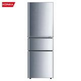 【WM】康佳(KONKA)192升 三门小冰箱 家用小型 电冰箱 软冷冻室 节能保鲜 静音省电(银色)BCD-192MT